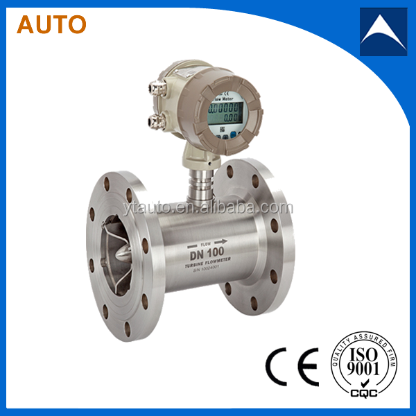 LWGY flange type liquid turbine flow meter/water flow meter for low viscosity oil with analog output