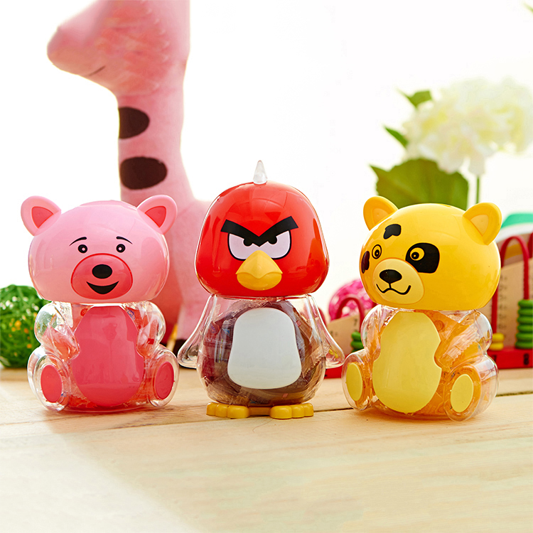190g cartoon animal jar custom gummy jello