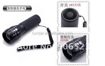 wholesale 10pcs/lot 5-modes zommable K01 180lumens 10W Aluminum Portable LED flashlights torch