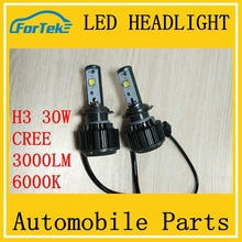 wholesale car accessories led headlight for bajaj 150cc pulsar motorcycle h3 30w 6000k 3000LM