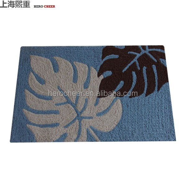 High quality embroidery printed bath mat and rugs from factory