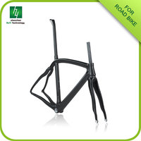 carbon frame bike racing CRF03,Finest carbon chinese road bike frame with fork,headset and Seat post