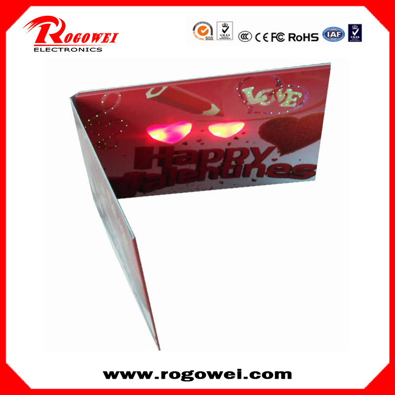 Brand new Factory marketing promotional items light up bulk greeting cards with CE certificate