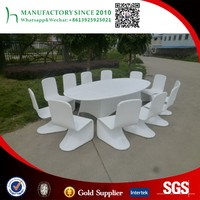 Wholesale white outdoor dinning set patio used hotel rattan furniture