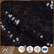 New Chinese textile hotel black wholesale sequin fabric india