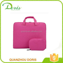 Business trip fashion lady carry rose color neoprene laptop sleeve