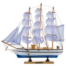 Hot selling wood craft best gift sailboat model for wholesale