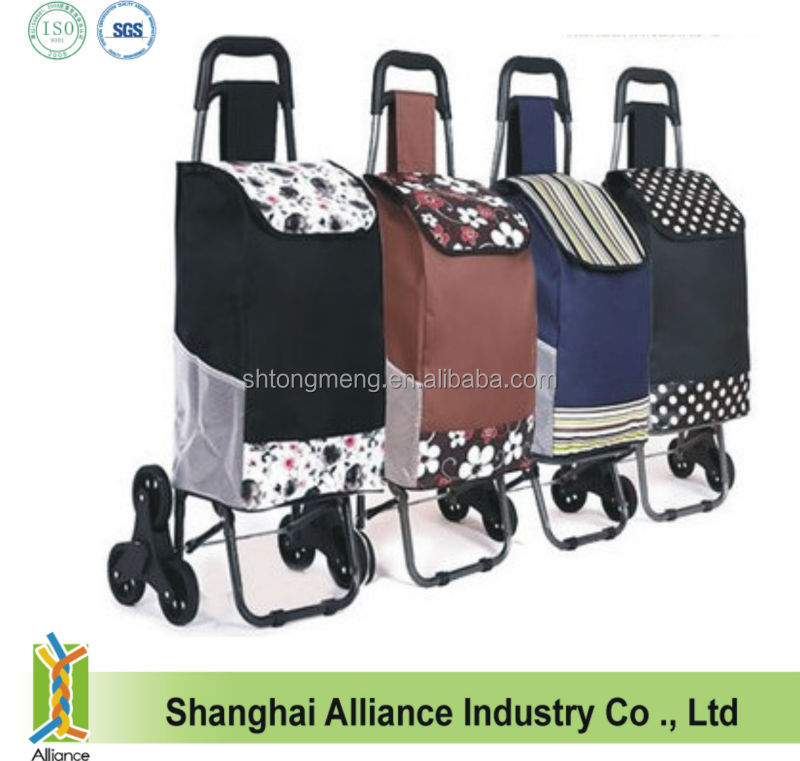 Folding Trolley Shopping Bag with 6 Wheels