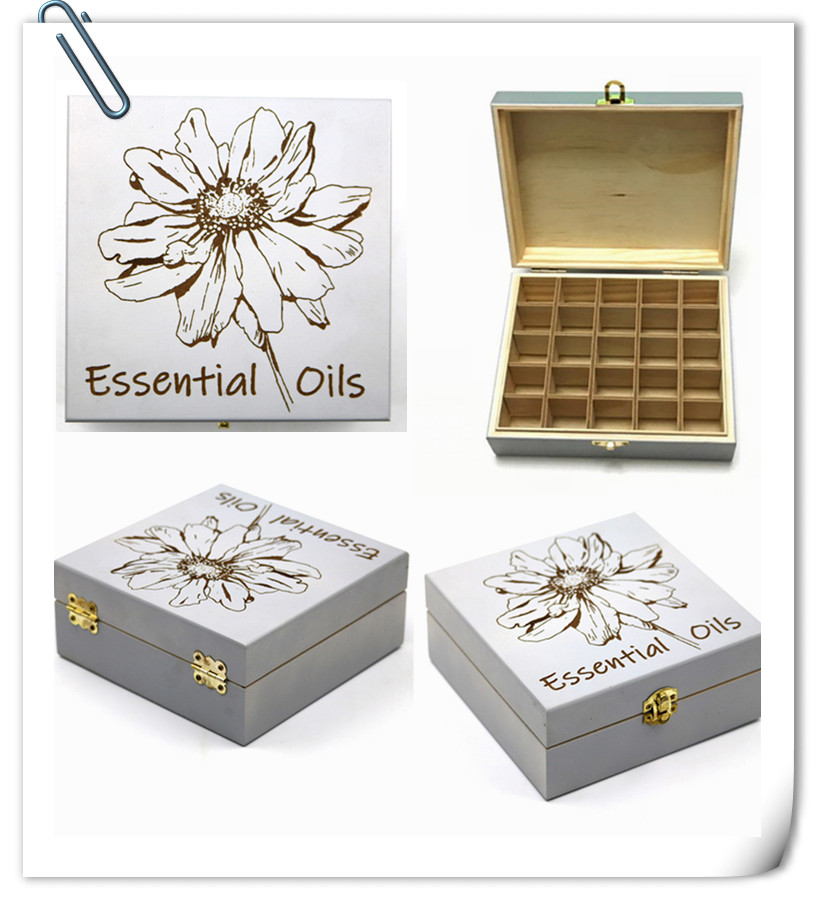 Wooden Essential Oil Storage Case 100% Natural Pine Wood Holds 5/10/15ml Bottles