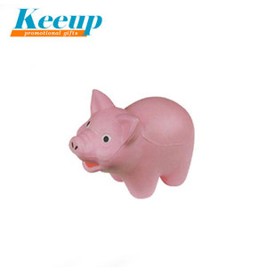 2018 Hot Sale Animal Promotion Pink Pig pu stress ball,anti-stress ball,toy stress ball