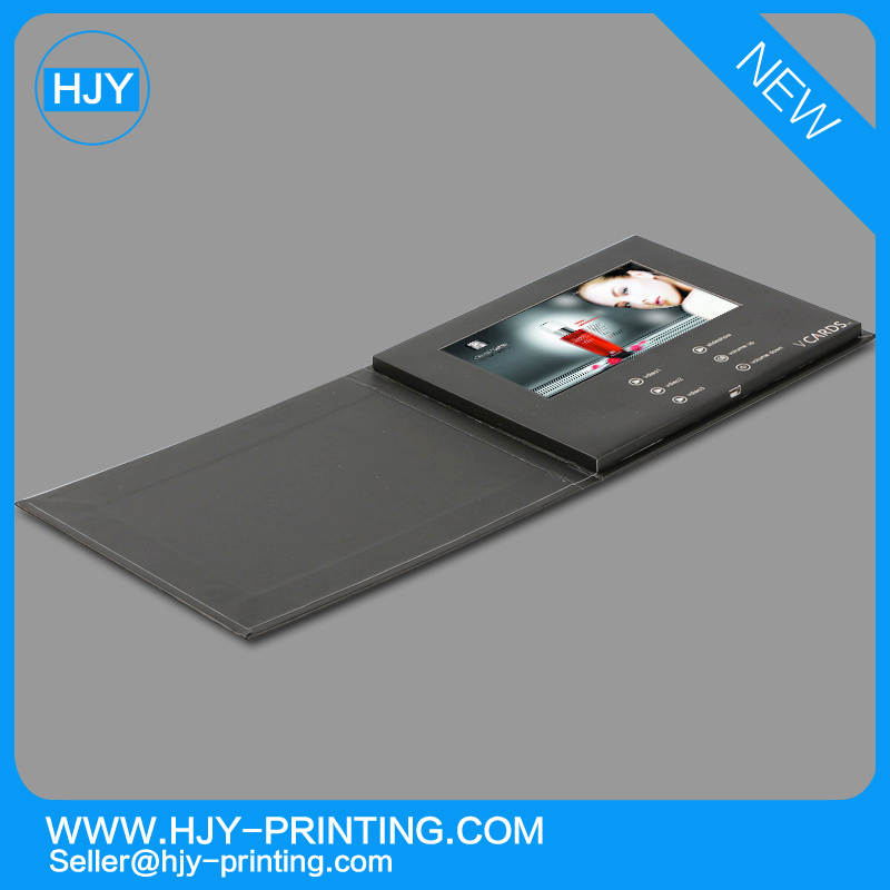 Hottest LCD-TFT Video Greeting Card/LCD Video Brochure/ LCD Video Booklet for