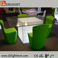 ice cube led/ cube chair with table/ modern cafe chairs and tables