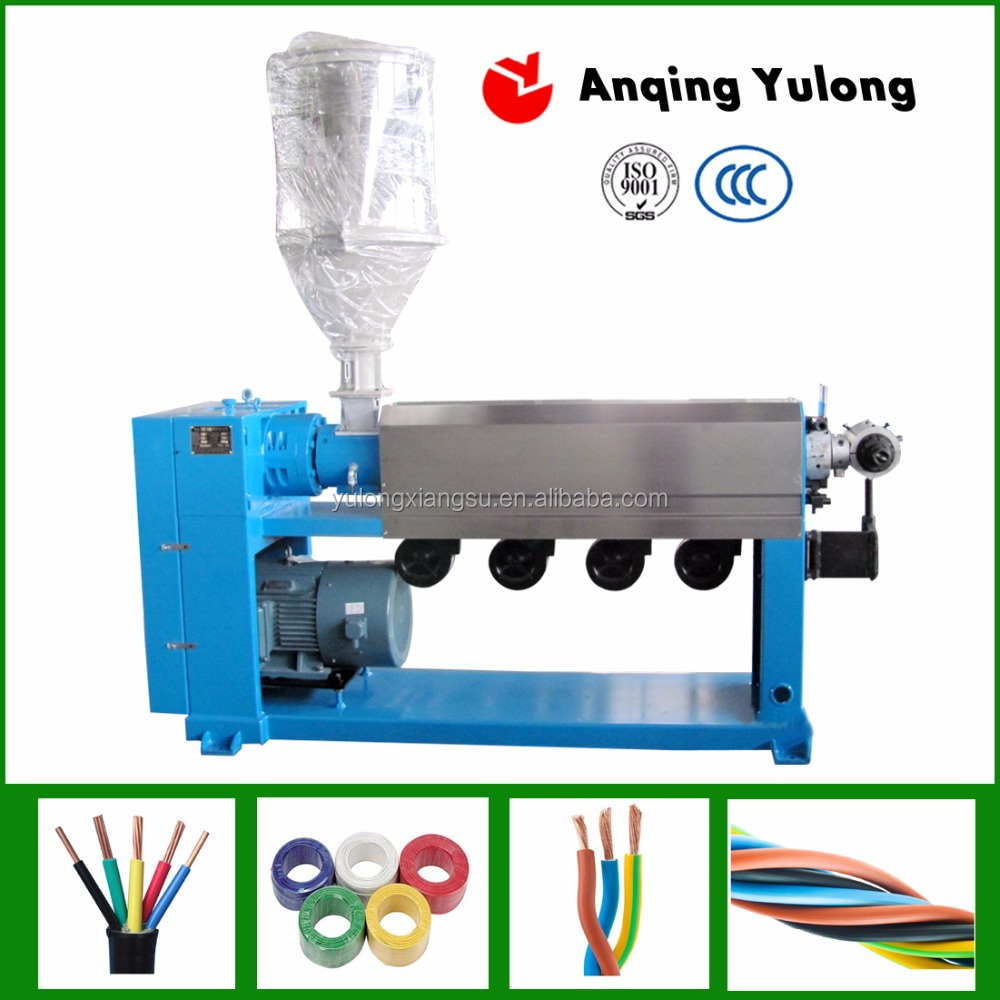 electrical wire/cable extruding machine with plc
