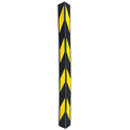 rubber material 1200mm yellow reflective tape corner guards for garage