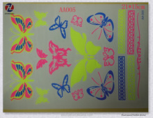 Non-toxic Various Fluorescent Butterfly Designs Large Permanent Flashing Tattoo