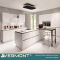 2018 Vermont New Modular Customized White Lacquer Modular Kitchen Equipment