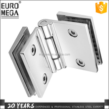 Shower bath room 180 degree inward tempered safety glass hardware fitting door hinge