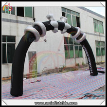 oxford cloth black inflatable events arch advertising arch for sale 2016