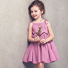 Wholesale casual dresses pictures for kids Spaghetti Strap girls dresses kids casual dresses