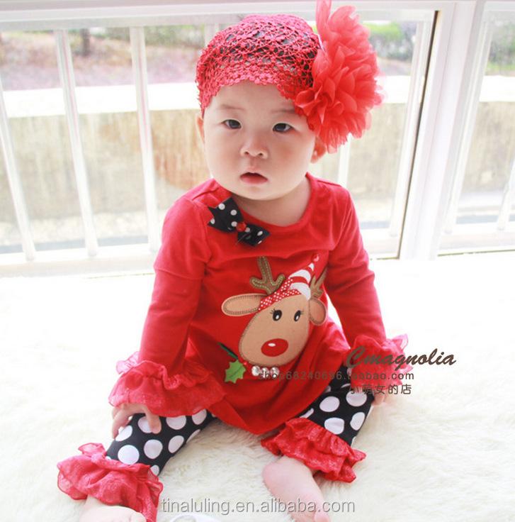 Wholesale Cute Baby Chirstmas Outfits Kids Deer Designer