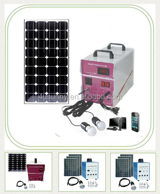 Excellent Quality 20W 50W 300W Mini Portable Solar System ,Home Application Solar Energy Generating System With Solar Panels
