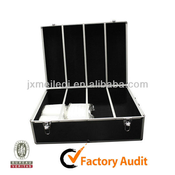 Shopping Online Websites 1000 Capacity Aluminum CD DVD Storage Case Black MLD-AC1362