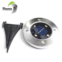 Garden Path Waterproof Recessed LED Solar Inground Light with Solar Panel