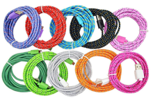 hot sale with factory price multi function data transfer cable/ usb data cable with mixed color nylon braid