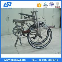 super light GR9 3AL 2.5V titanium folding bike frame with CE certificate