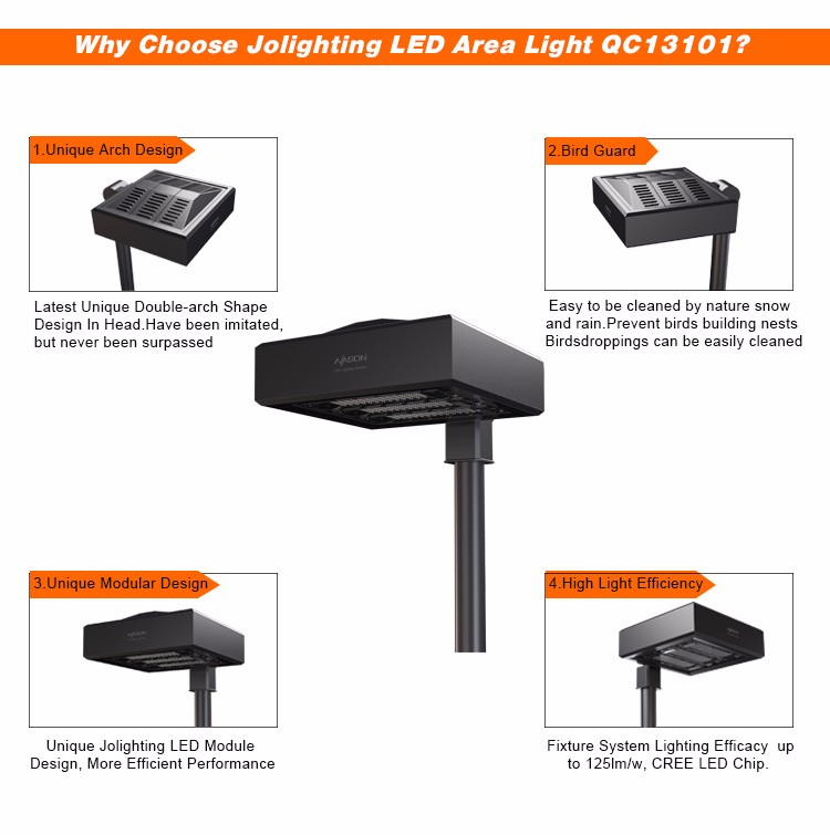2018 Product optional smart photocell control professional optical design low glare 125Lm/w IP65 Led Street Light