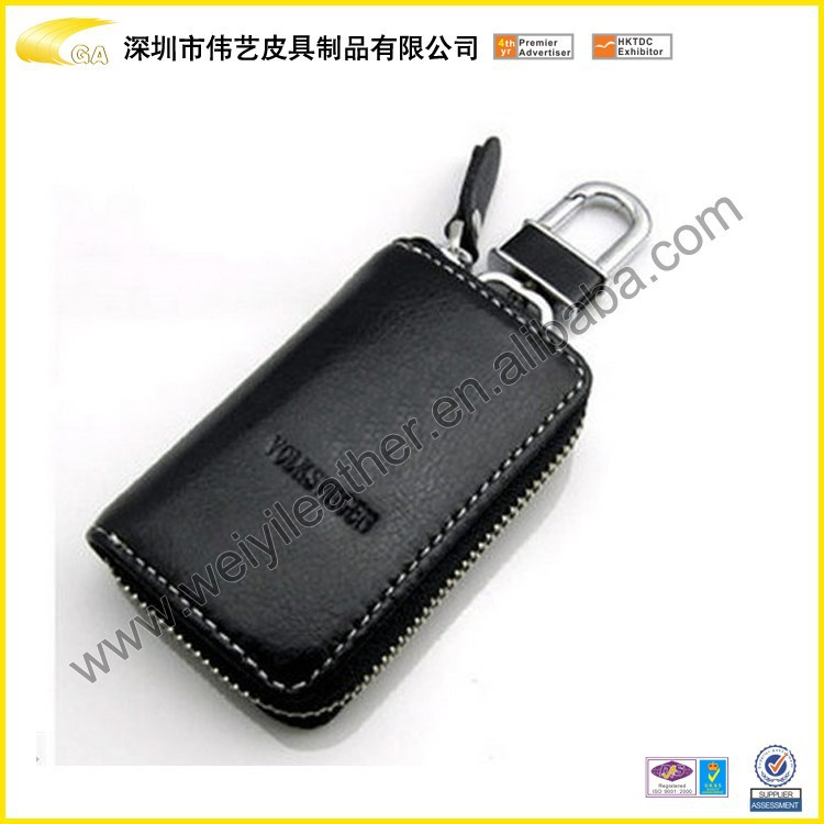 Wholesale Promotional High Quality Multifunctional Durable Car Keychain Holder Bulk Key Black Keychain Wallet