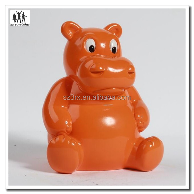 custom make cartoon vinyl money box,plastic cartoon money box,shenzhen factory custom make money box
