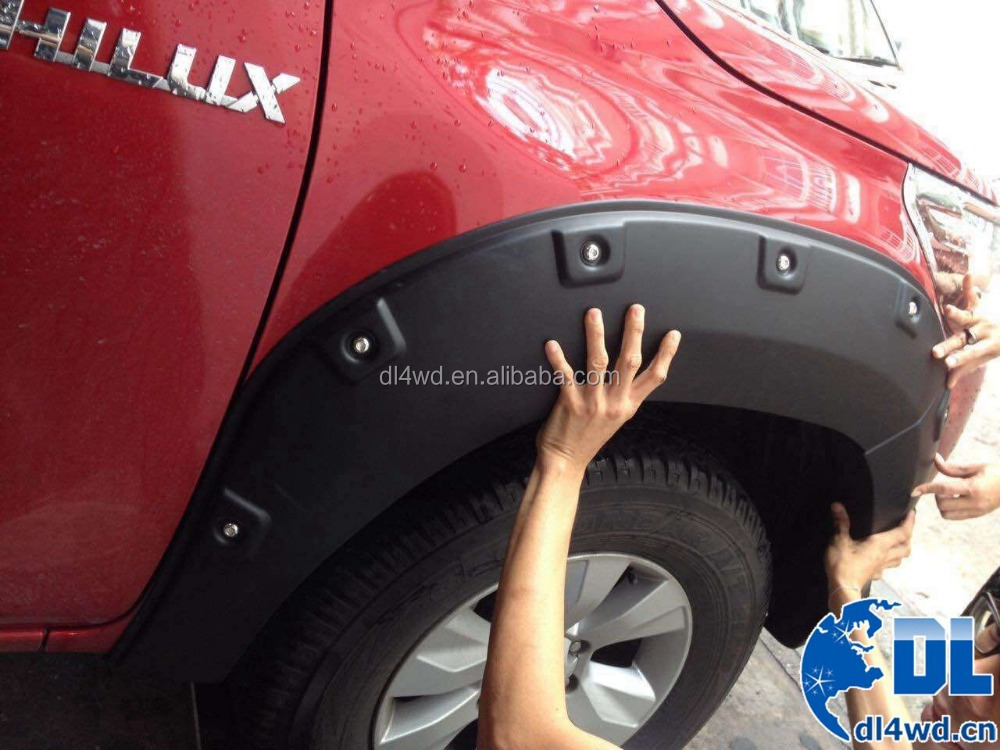 Black Fender flares for toyota hilux revo Pickup Truck 2015 2016 accessories