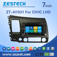 Fm radios audio multimidea car dvd gps navigation For HONDA OLD CIVIC LHD support BT Phone DTV DVR SWC