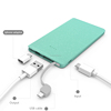 New private model portable charger 2500mAH 5000mAh 10000mAh power bank with militicolor low price high quality external battery