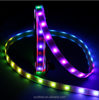 Programmable WS2801 5V changeable color 5050 32leds rgb waterproof IP67 flexible led strip