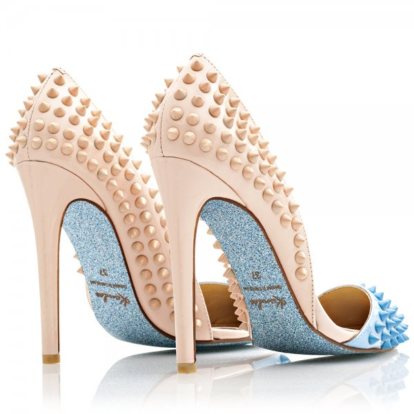 Sexy studded  pointed toe woman shoes