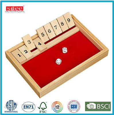 Classic Board game Wooden Shut the box