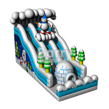 China factory new style christmas inflatable Slide , inflatable snow slide