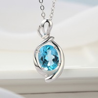 Factory Price Blue Topaz 925 Sterling