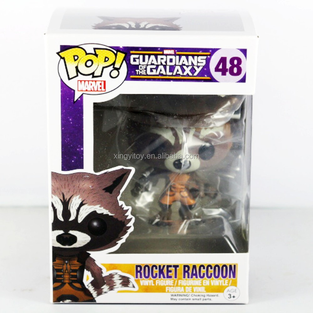 "New in box Japenese POP Marvel Guardians of the Galaxy ROCKET RACCOON #48 Vinyl 8cm/3""Toy Action figure"