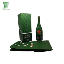 Luxury Custom Printed Wine Carrier Cardboard personalized Wine Box