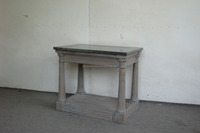 recycled wood furniture zinc top coffee table
