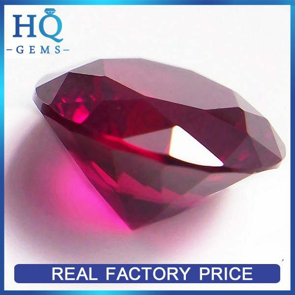 Synthetic Corundum Machine Cut Raw Precious Stones