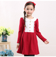 Fashion Dress 2015 Children Frocks Designs For Winter Baby Girl Dresses Wholesale