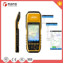 Android Rugged GNSS Next To Trimble RTK GPS Receiver