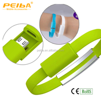 USB Data Sync Charger 22CM Creative Designed Bracelet USB Data Cable for Universal Cell Phones