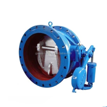 HHQ47H self control slow closing counterweight butterfly check valve