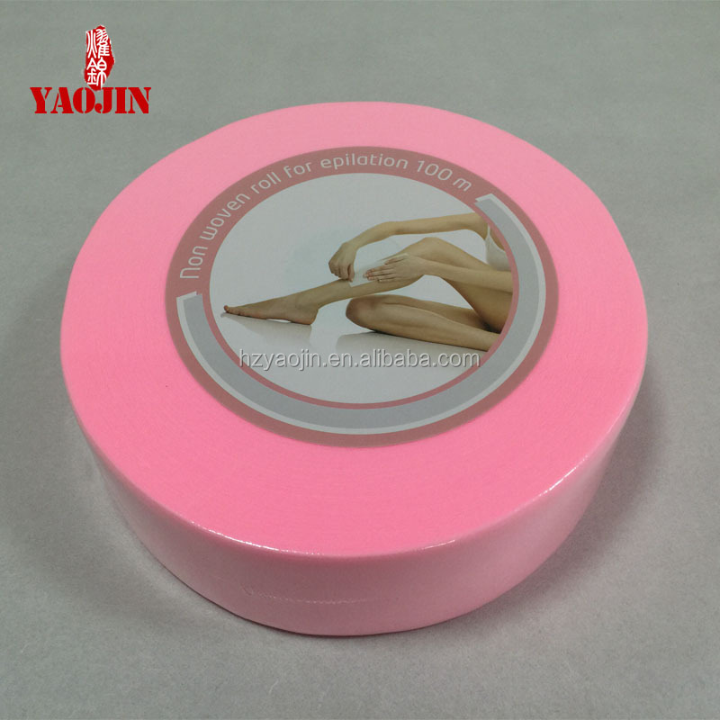 2016 hot sell pink nonwoven wax roll for epilation 100m
