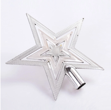 Top Quality Personalized decorative plastic small hanging christmas star